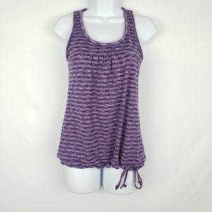 Athleta purple tinker tank built in bra
